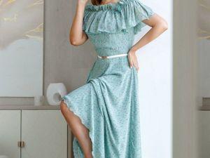 Аукцион на платье из струящегося шифона! Старт 2500 р.!. Ярмарка Мастеров - ручная работа, handmade.