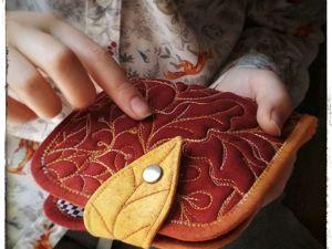 Счастливый понедельник! -40% на дамский кошелек  «В золотом лесу». Ярмарка Мастеров - ручная работа, handmade.