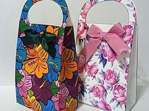 Делаем подарочные сумочки. Часть первая. Ярмарка Мастеров - ручная работа, handmade.