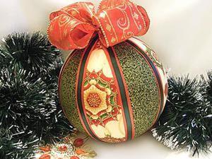 Мастер-класс: декорируем тканью пенопластовый шарик. Ярмарка Мастеров - ручная работа, handmade.