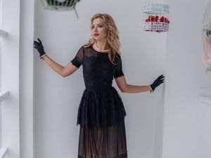 Аукцион на Чёрное вечернее платье! Старт 3500 руб.!. Ярмарка Мастеров - ручная работа, handmade.