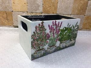 Короб для специй  «Травы Прованса»  для Татьяны. Ярмарка Мастеров - ручная работа, handmade.