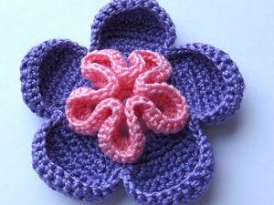 Как связать фантазийный цветок. Ярмарка Мастеров - ручная работа, handmade.