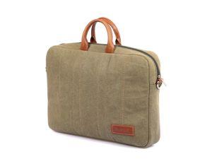 Деловая сумка из канваса и кожи. Ярмарка Мастеров - ручная работа, handmade.