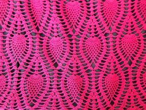 Вязание спицами . Ажурный рельефный узор «Ананас». Ярмарка Мастеров - ручная работа, handmade.