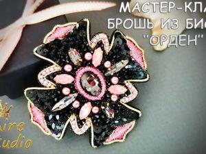 Мастер-класс: брошь из бисера «Орден» своими руками. Ярмарка Мастеров - ручная работа, handmade.