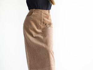 Новая модель — вельветовая юбка, хлопок 100%. Ярмарка Мастеров - ручная работа, handmade.