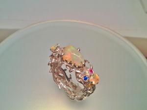 Видео: Кольцо  «тЕрновый Венец» .Серебро. Опал. Ярмарка Мастеров - ручная работа, handmade.