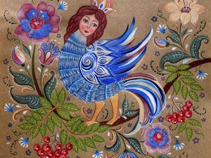 Мифологические образы в русском декоративно-прикладном искусстве. Часть третья — птица Сирин. Ярмарка Мастеров - ручная работа, handmade.