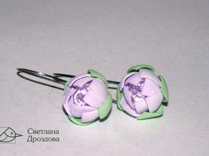 Мастер-класс: серьги в виде цветов из фоамирана. Ярмарка Мастеров - ручная работа, handmade.