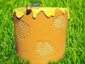 Делаем медовый вазон из бетона своими руками. Ярмарка Мастеров - ручная работа, handmade.