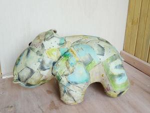 Реставрация игрушки Бегемот  из натуральной кожи. Ярмарка Мастеров - ручная работа, handmade.