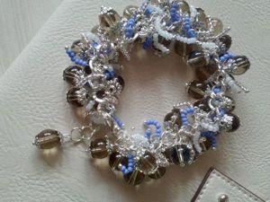 Собираем браслет-гроздь «Зимний лес». Ярмарка Мастеров - ручная работа, handmade.