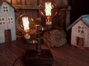 Делаем настольную лампу в Лофт стиле с минимальным набором инструмента. Ярмарка Мастеров - ручная работа, handmade.