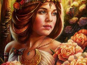Рисуем картину «В райском саду». Ярмарка Мастеров - ручная работа, handmade.