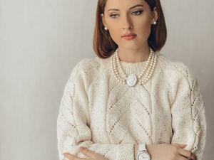 Вяжем свитер White. Описание вязания. Ярмарка Мастеров - ручная работа, handmade.
