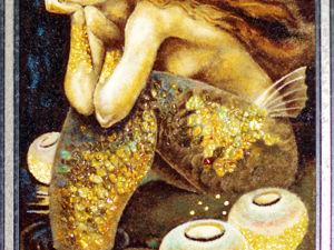 Янтарная картина  «Русалка». Ярмарка Мастеров - ручная работа, handmade.