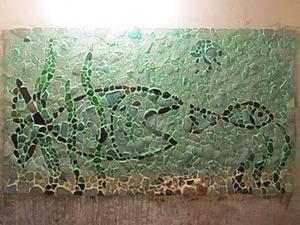 Декорируем стену мозаикой из морских стеклышек. Ярмарка Мастеров - ручная работа, handmade.