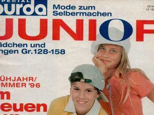 Burda Special JUNIOR весна-лето'96. Ярмарка Мастеров - ручная работа, handmade.