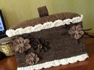 Мастерим шкатулку своими руками из ткани. Ярмарка Мастеров - ручная работа, handmade.