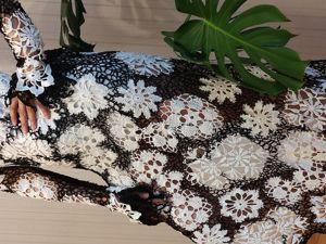 Платье,вязаное крючком . Ирландское кружево . Ярмарка Мастеров - ручная работа, handmade.