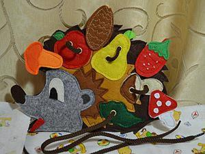 Изготавливаем развивающую игрушку «Ежик». Ярмарка Мастеров - ручная работа, handmade.