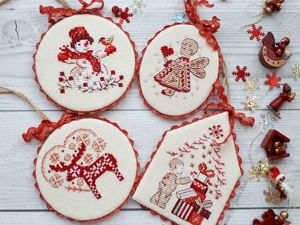 How to Make Stylish Pin Keeper Christmas Decorations with Embroidered Elements. Livemaster - handmade