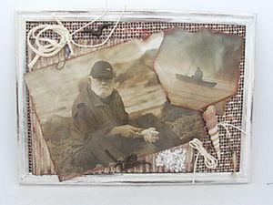 Коллаж в подарок рыбаку.. Ярмарка Мастеров - ручная работа, handmade.