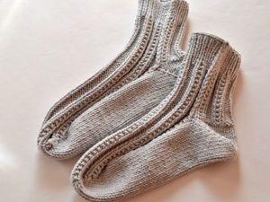 Учимся вязать мужские носки на двух спицах: видеоурок. Ярмарка Мастеров - ручная работа, handmade.