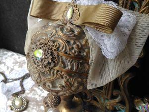 Применение детского пластилина в творчестве. Изготовление новогоднего шара  «Ажур». Ярмарка Мастеров - ручная работа, handmade.