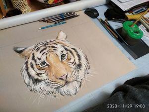 Тигр для интерьера. Ярмарка Мастеров - ручная работа, handmade.
