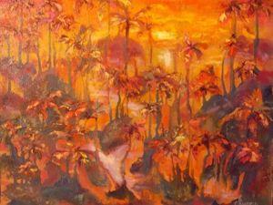 Видео мастер-класс по интуитивной живописи «Лес приснился-5». Ярмарка Мастеров - ручная работа, handmade.