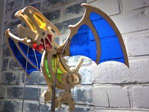 Делаем подвижную модель дракона из фанеры и цветного оргстекла. Ярмарка Мастеров - ручная работа, handmade.