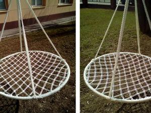 Плетем подвесное кресло-гамак. Ярмарка Мастеров - ручная работа, handmade.