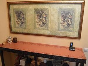 Декорирование консоли с помощью имитации фрески. Ярмарка Мастеров - ручная работа, handmade.