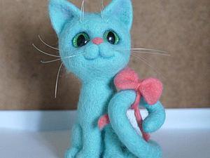Валяем кошку Завитушку бирюзового цвета. Часть первая. Ярмарка Мастеров - ручная работа, handmade.