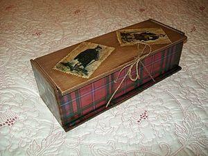 Мастерим старинный короб для бутылки. Ярмарка Мастеров - ручная работа, handmade.