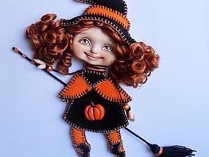 Ведьма по имени Тыковка: мастер-класс по созданию куклы-броши. Ярмарка Мастеров - ручная работа, handmade.