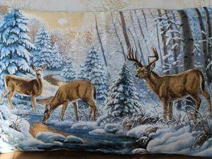 СНЕЖНЫЕ чехлы для обновления интерьера к зиме. Ярмарка Мастеров - ручная работа, handmade.