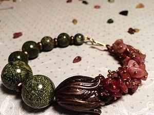 Собираем браслет «Каменный цветок». Идея использования шапочки для бусины «бутон». Ярмарка Мастеров - ручная работа, handmade.