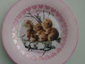 Новинка — тарелки  «Забавные котята». Ярмарка Мастеров - ручная работа, handmade.