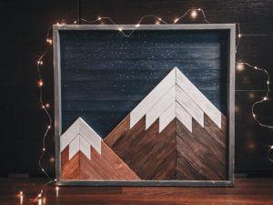 Панно  «Горы»  в деталях. Ярмарка Мастеров - ручная работа, handmade.