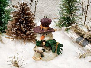 Дополнительные фото снеговик с баранками. Ярмарка Мастеров - ручная работа, handmade.