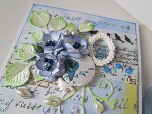 Цветы ручной работы для открытки. Ярмарка Мастеров - ручная работа, handmade.