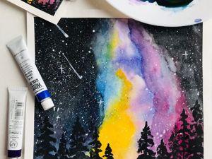 Как нарисовать космическое сияние. Ярмарка Мастеров - ручная работа, handmade.