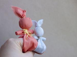 Great DIY Folk Finger Bunny Toy. Livemaster - handmade
