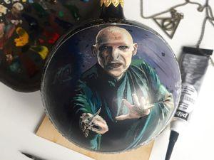 Создаем миниатюрный портрет Волан де Морта масляными красками. Ярмарка Мастеров - ручная работа, handmade.