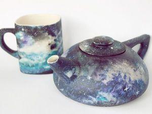 Painting Space on Ceramics with Acrylic. Livemaster - handmade