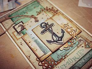 Создание скраповых открыток морской тематики для мужчин. Ярмарка Мастеров - ручная работа, handmade.