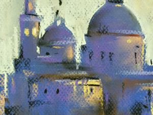 Суперпростой мастер-класс пастелью «Венеция на рассвете». Ярмарка Мастеров - ручная работа, handmade.